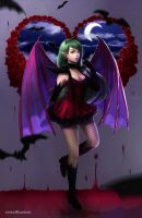 Vampire Evelyn (Comission) by renaillusion