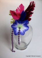 Vase, Beads and Flowers by WendyFae