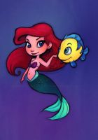 Little Mermaid: Ariel Chibi Colored by relsgrotto