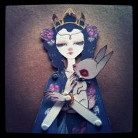 Moon Goddess Paper Doll by limbiclullaby