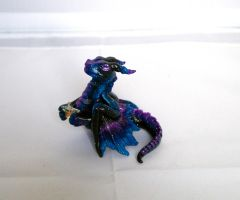 Stargazer Galaxy Dragon Hatchling by LittleDragonDesigns