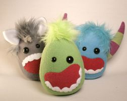 Stuffed Monster Plushies by Saint-Angel