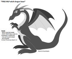 FREE base 03 - MLP-ish adult dragon by EwyAdopts