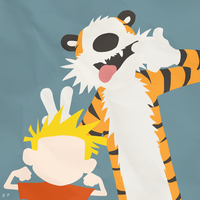 Calvin and Hobbes (Simplistic) by Geoffery10