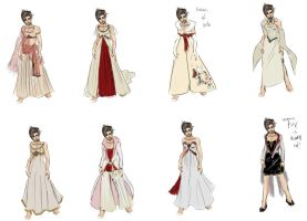Wedding dress designs by Enkida