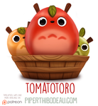 Daily Paint 1583. Tomatotoro by Cryptid-Creations