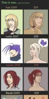 Then and Now by tenmisu