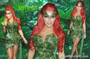 Kim Kardashian as Poison Ivy by CastleCorsetry