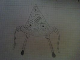 Drawing: Zombie Pizza by rubenimus21