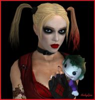 Harley Quinn's Joker Plush by dnxpunk