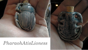 Ancient Egypt Scarab Fragrance Oil Vessel by PharaohAtisLioness