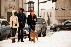Kiddos in the Snow by BurlapZack