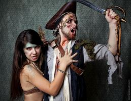 Drowned Pirate and Evil Siren by stuckwithpins