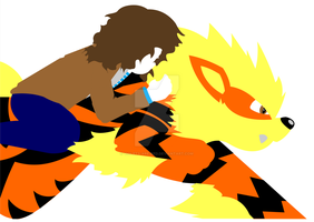 Shaun and his Arcanine by violets-are-red