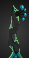 Deceiving Assailant (Queen Chrysalis Keyblade) by aniamalman