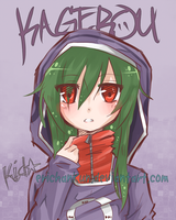 KagerouProject: Kido Tsubomi by erichankun