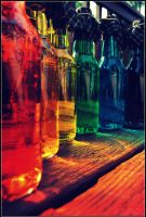 Rainbow Bottles IV by Isika