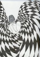 checkered angel by Callise