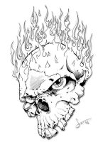 Flame Skull by hassified