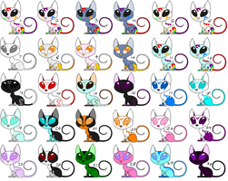 Free Kat Adopts 8 CLOSED by sam-speed