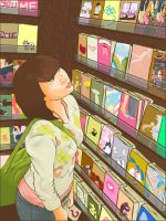 In The Book Store by ripatapir