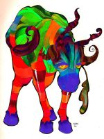 Lowing Sacred Cow by CactusSun