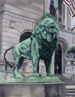 Art Insititute of Chicago Lion: On the Prowl by LessThanDressed