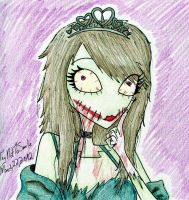 Zombie Chick by TryNotToSmile