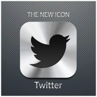 The new icon of twitter by D1m22