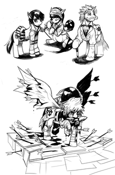 Bastion Ponies Sketchdump! by KungFuPony