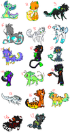 CLOSED SpookyAdopts and Rainfursadopts COLLAB by alfvie