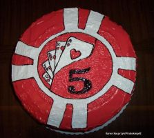 Poker Chip Cake by pirateking42