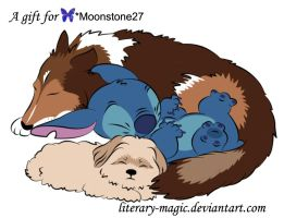 Present for Moonstone by literary-magic