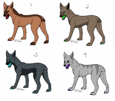 Demon Dog Adopts (4/4 OPEN) by AvalaAdopts