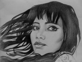 Mexican Muse (pencil on paper) by AdrianMoraru