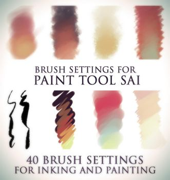 Brush settings for Paint tool SAI by SirWendigo