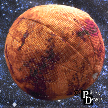 Mars Globe 3D Cross Stitch by rhaben