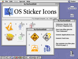 OSX System Sticker Icons (Clipping/Package+More) by KarbonKidd