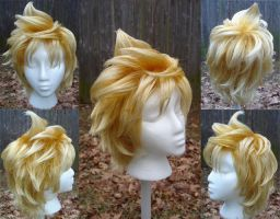 Roxas wig by invader-gir