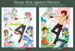 draw this again meme : elements by redstrarlight