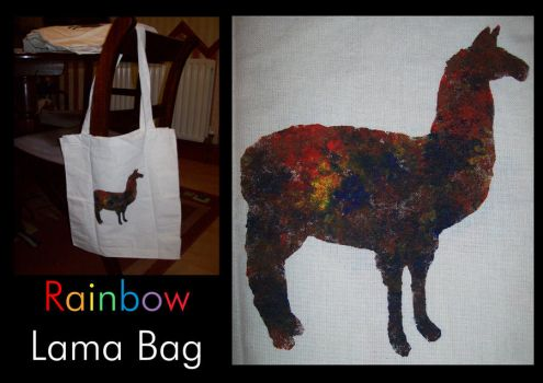 Rainbow Lama Bag by supersmeg123
