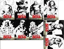 Some Walking Dead Cards - inks by soliton