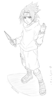 Young Sasuke -- Sketch by Sing-sei