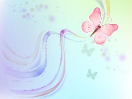 pastel butterfly blue by dodozhang21