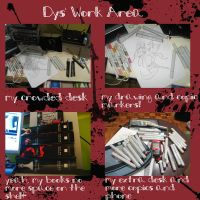 My work area 4 by dysfunctionalartist