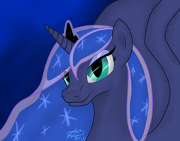 Princess Luna (Colored) by Pritalicious