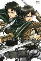 Shingeki no Kyojin Rivaille And Eren by luffysan9
