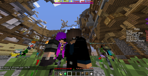 DragonDoesMinecraft and Wolfydee by Wolfy-Loves-MC