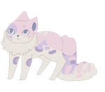 SOLD Pink Pale Coral Feline Adopt by ChezuAdoptables