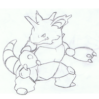 Pokemon Nidoking Sketch by mssingno